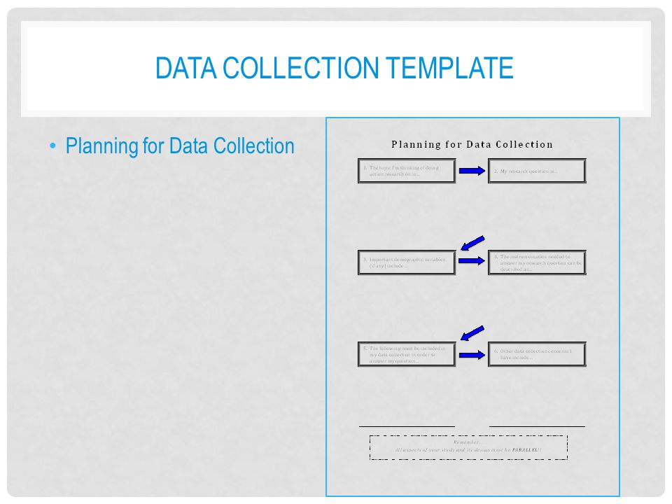 Data collection template