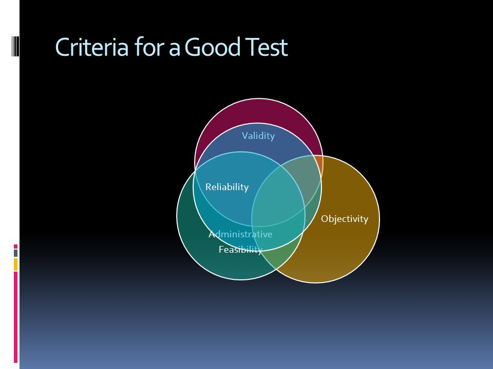 Criteria for a Good Test