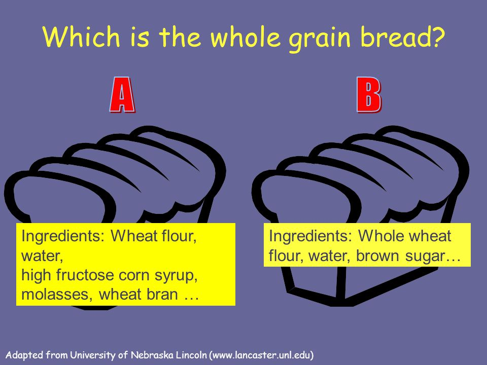 Which is the whole grain bread