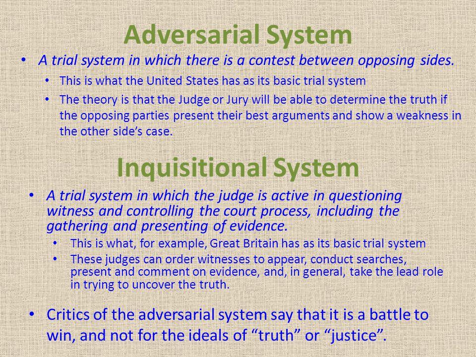 adversarial system example