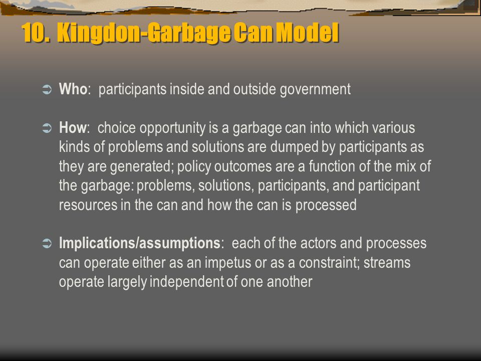 10. Kingdon-Garbage Can Model