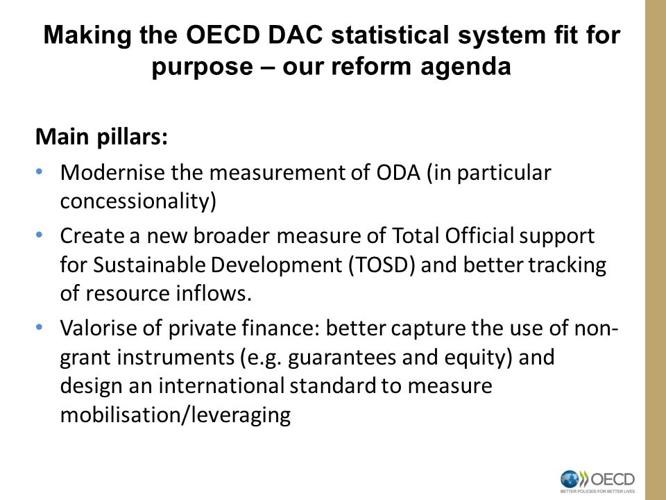 Making the OECD DAC statistical system fit for purpose – our reform agenda
