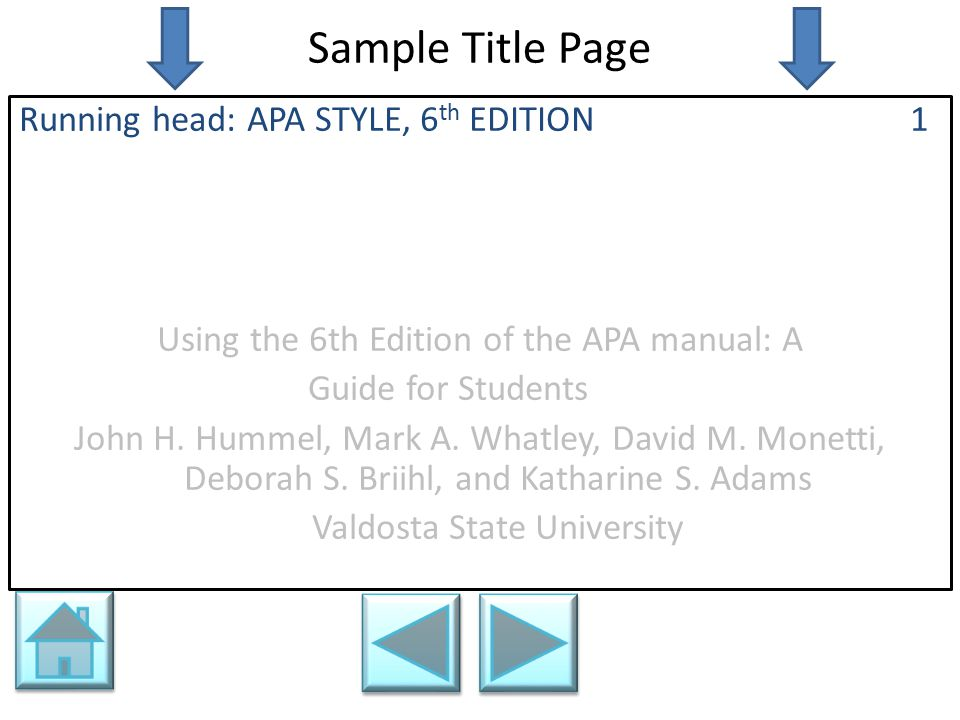 APA STYLE FOR STUDENTS Valdosta State University Ppt Download