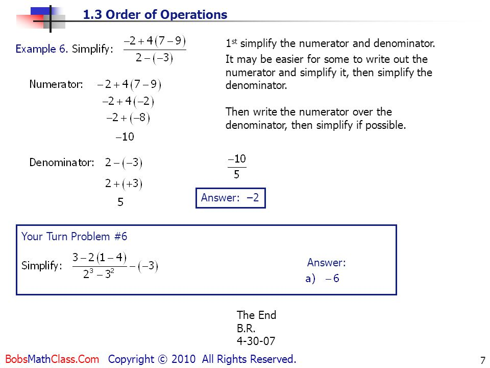 1st simplify the numerator and denominator.