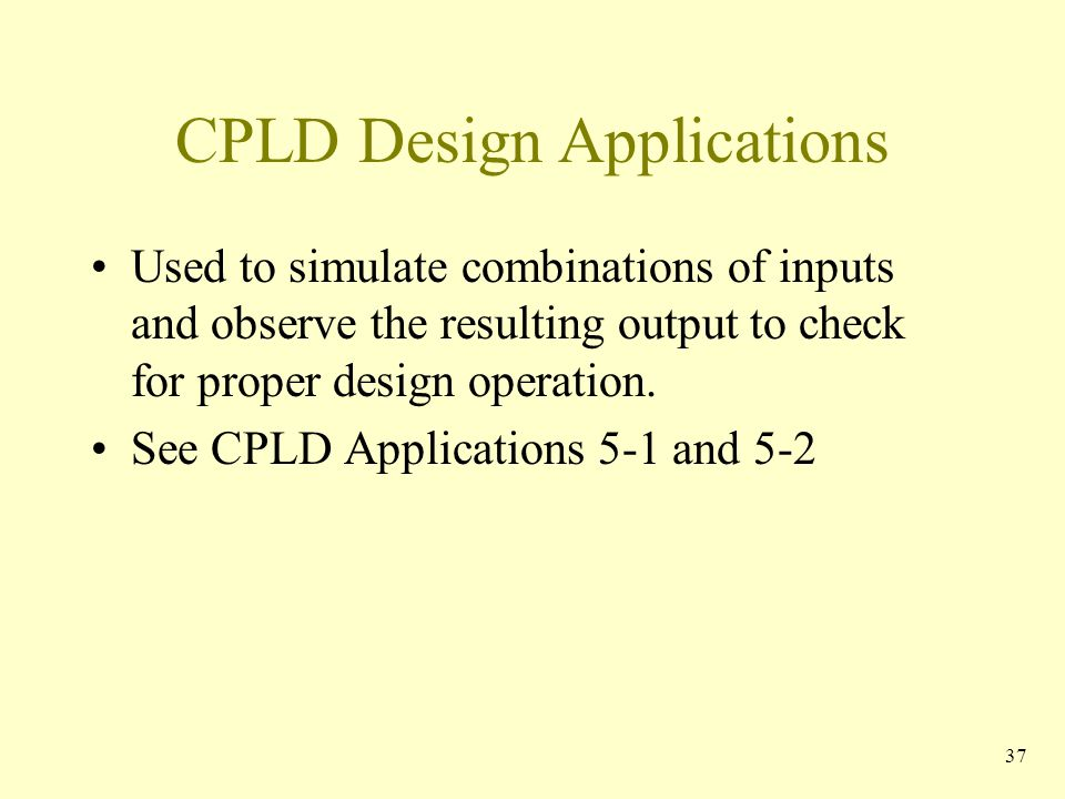 CPLD Design Applications