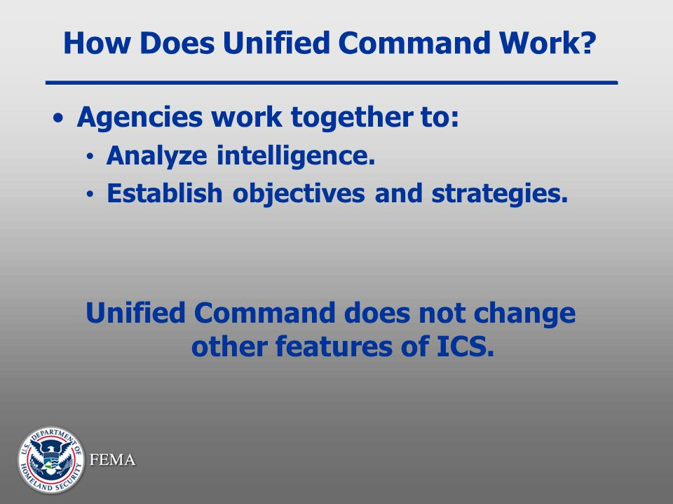 How Does Unified Command Work