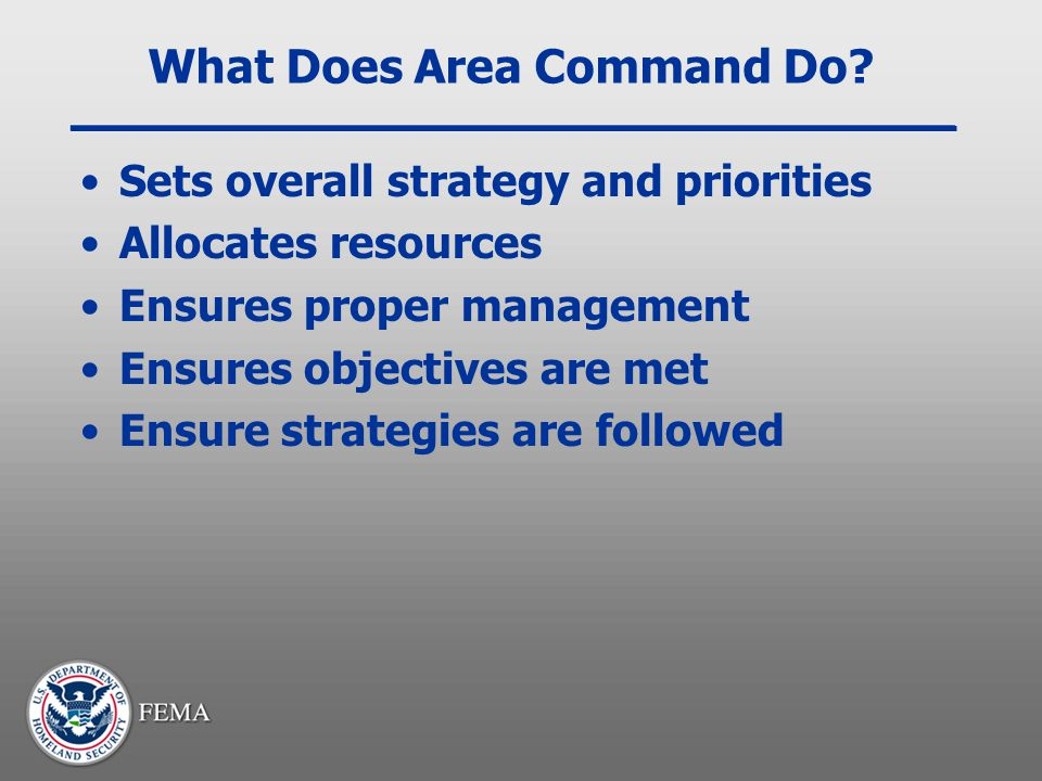 What Does Area Command Do