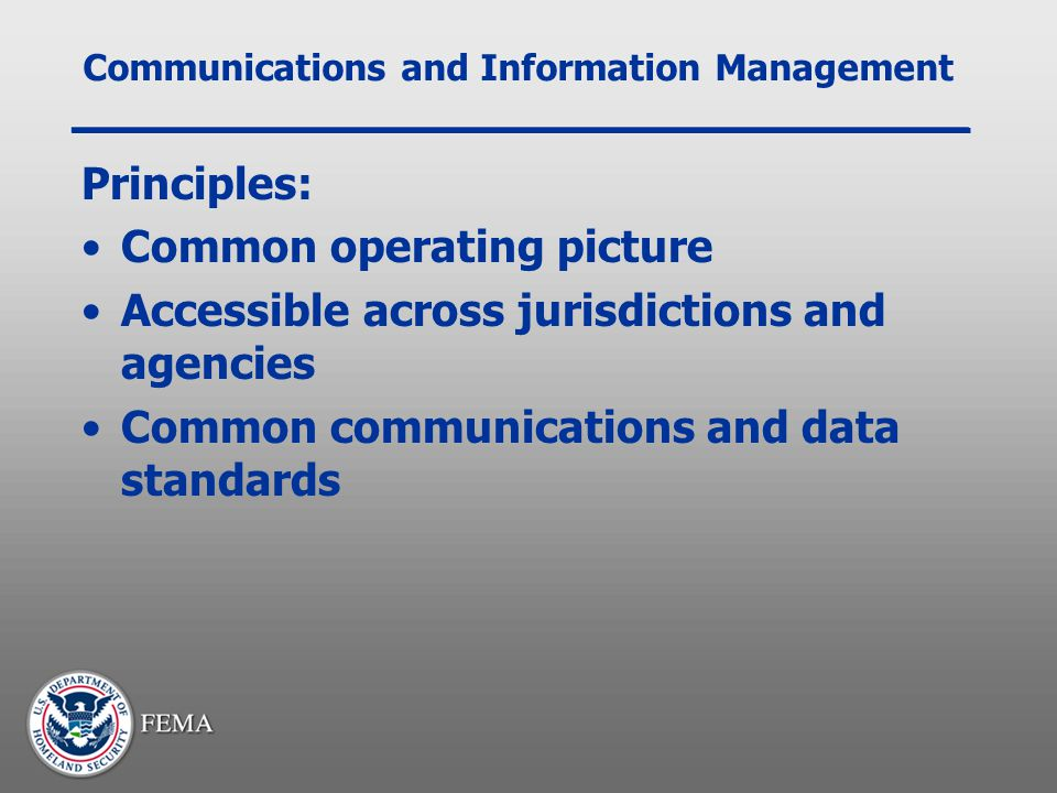 Communications and Information Management