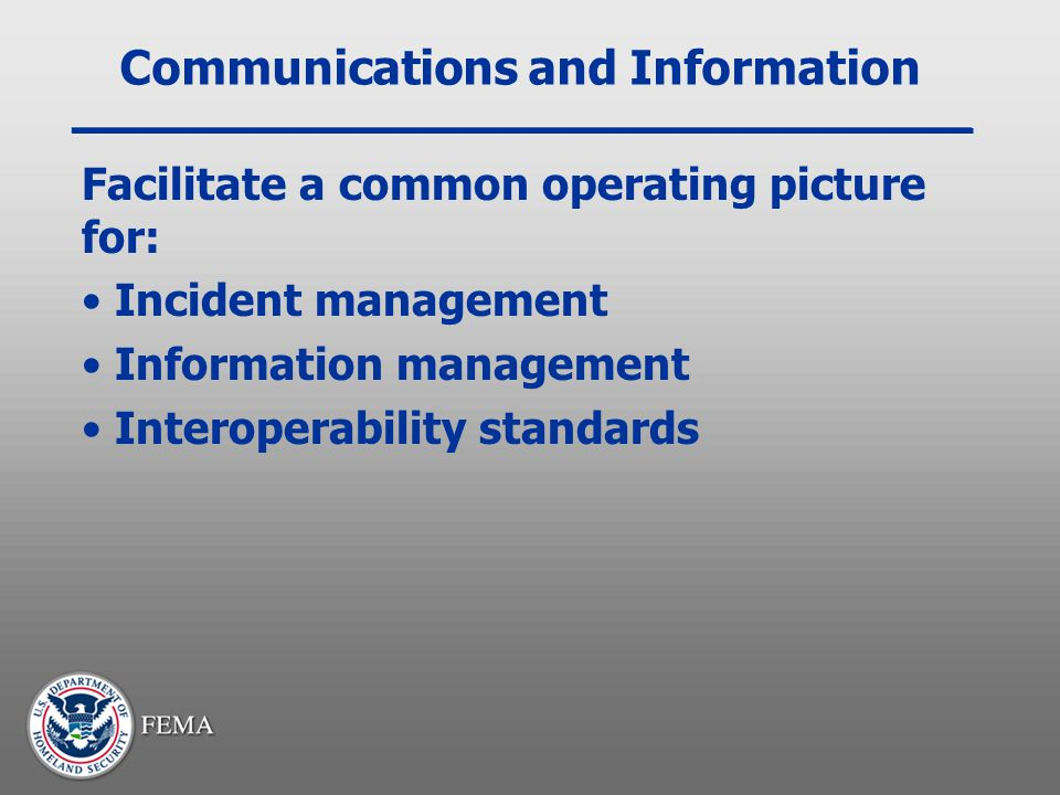 Communications and Information