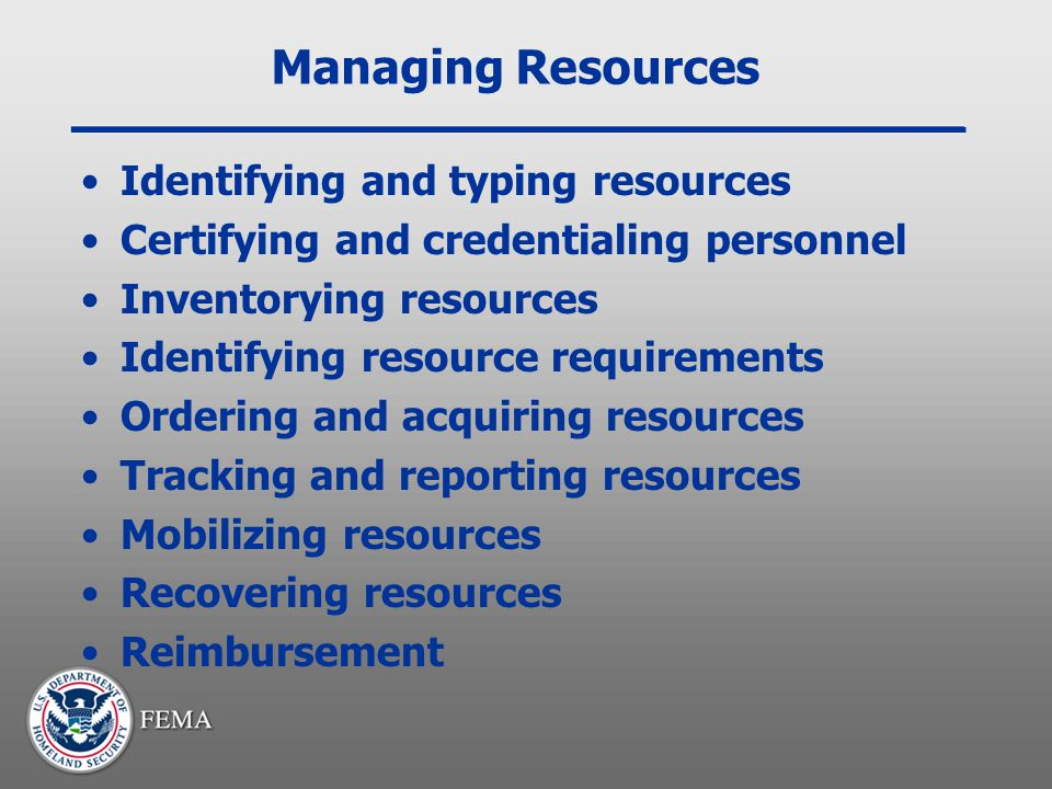 Managing Resources Identifying and typing resources