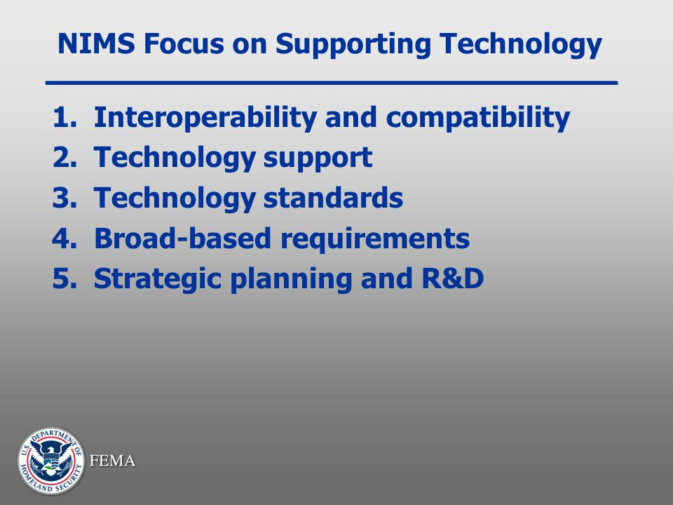 NIMS Focus on Supporting Technology