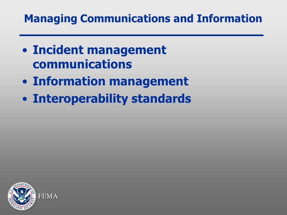 Managing Communications and Information