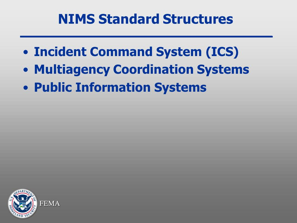 NIMS Standard Structures