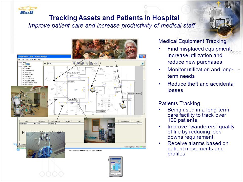 Tracking Assets and Patients in Hospital Improve patient care and increase productivity of medical staff