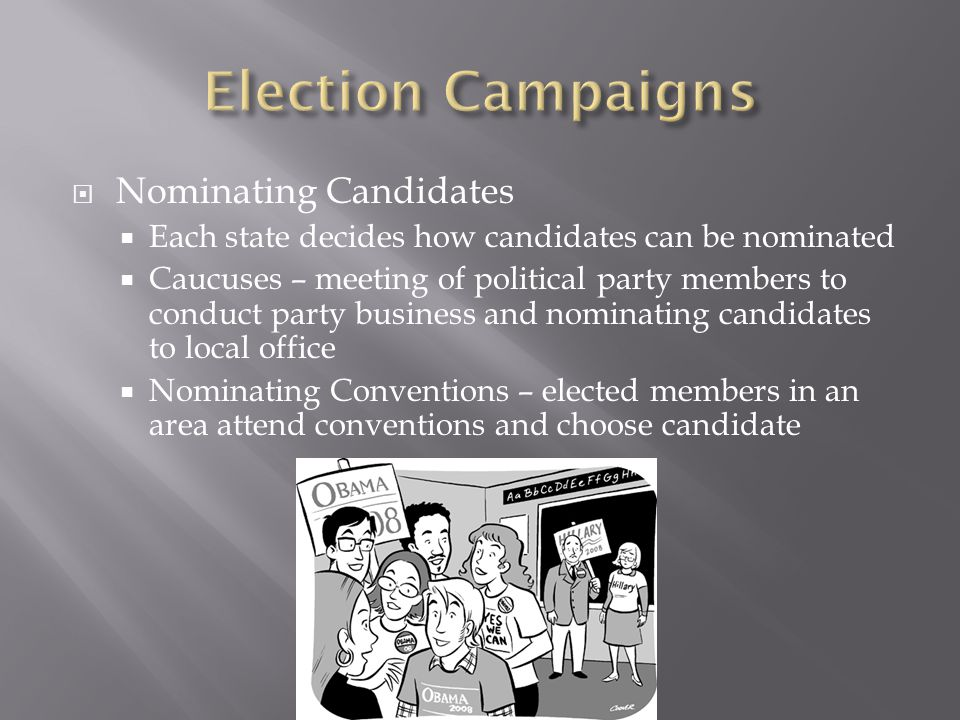 Election Campaigns Nominating Candidates
