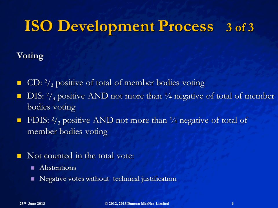 ISO Development Process 3 of 3