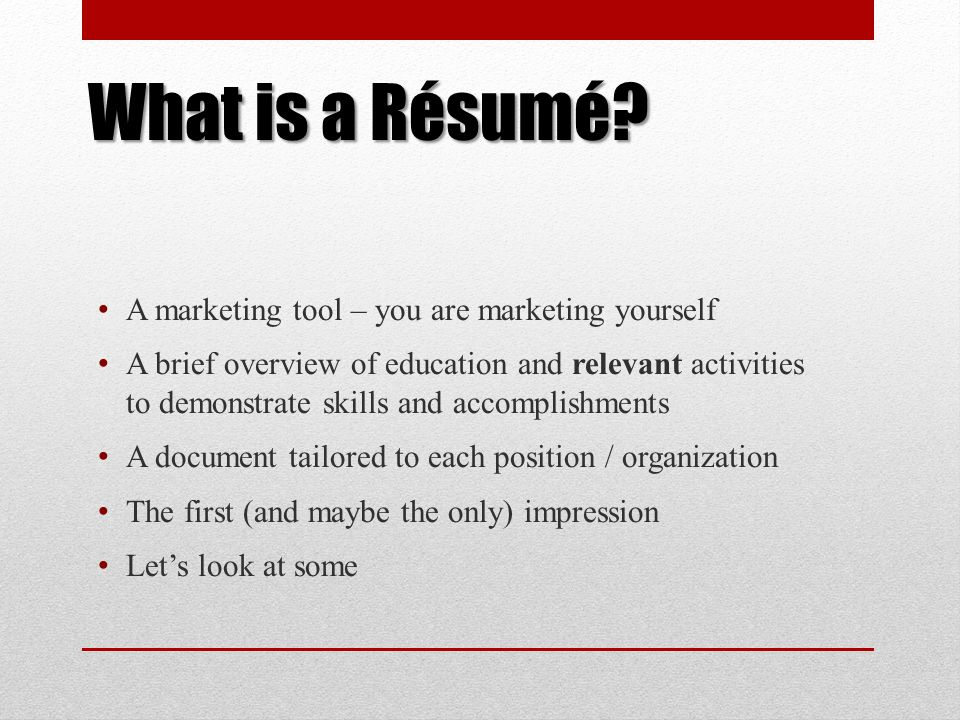 A R Sum Workshop For Culinary Arts Students Ppt Download. What Is A R Sum Marketing Tool You Are Yourself. Resume. Resume Tool At Quickblog.org