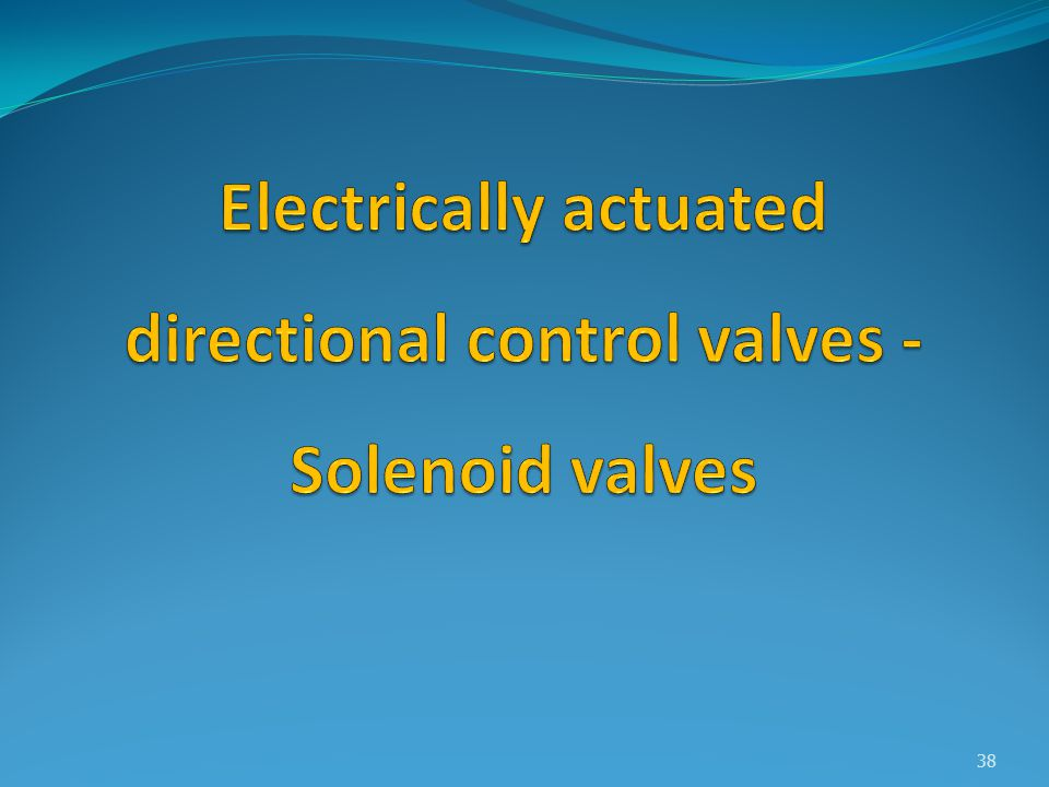 Electrically actuated directional control valves - Solenoid valves