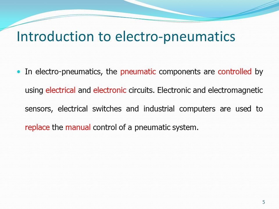 Introduction to electro-pneumatics