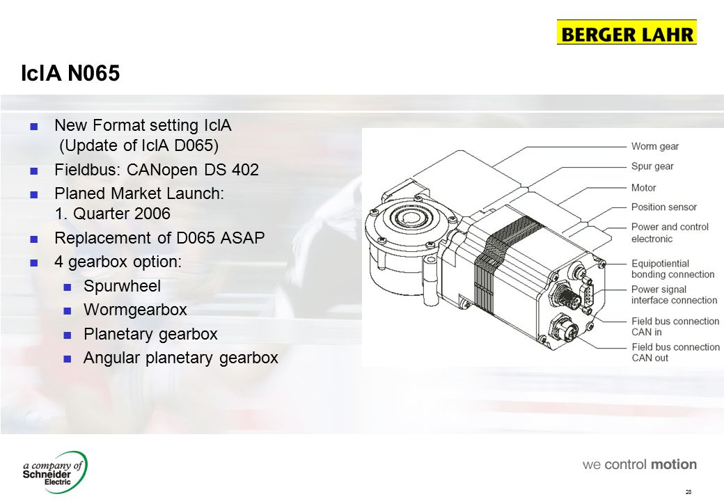 Berger Lahr IclA Intelligent compact drives - ppt download