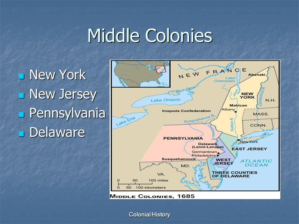a comparison of the middle and southern colonies in the new world The middle colonies and new england were different in that new england was largely puritan, and, save for rhode island (which practiced a form of religious tolerance), the government was a kind of.