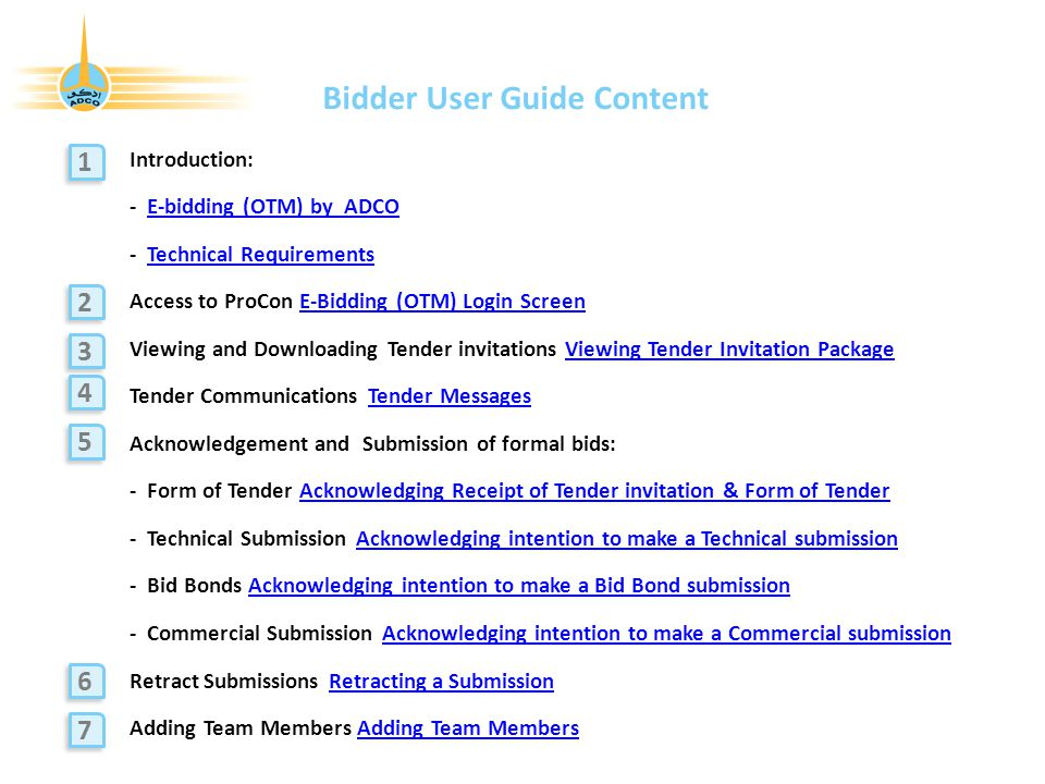 procon bidder user guide supply chain management division ppt rh slideplayer com Guide Book Guide Book