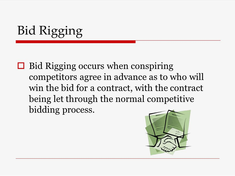 Bid Rigging And Collusion In Government Contracts Ppt Video Online Download