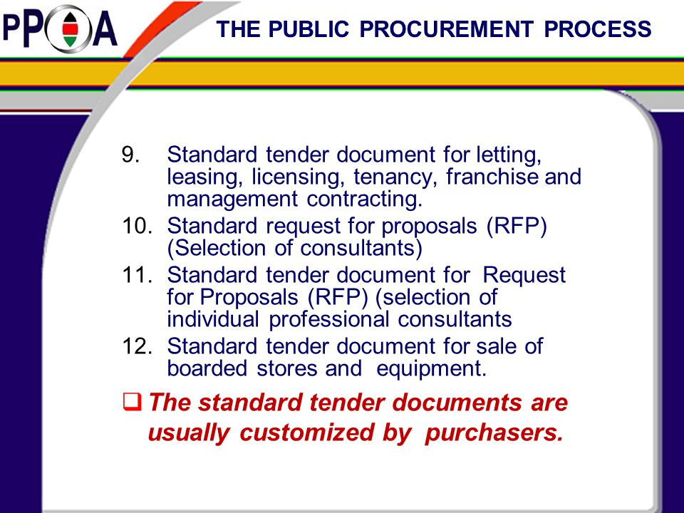 UNDERSTANDING THE IMPORTANCE TENDER DOCUMENTS - ppt video online