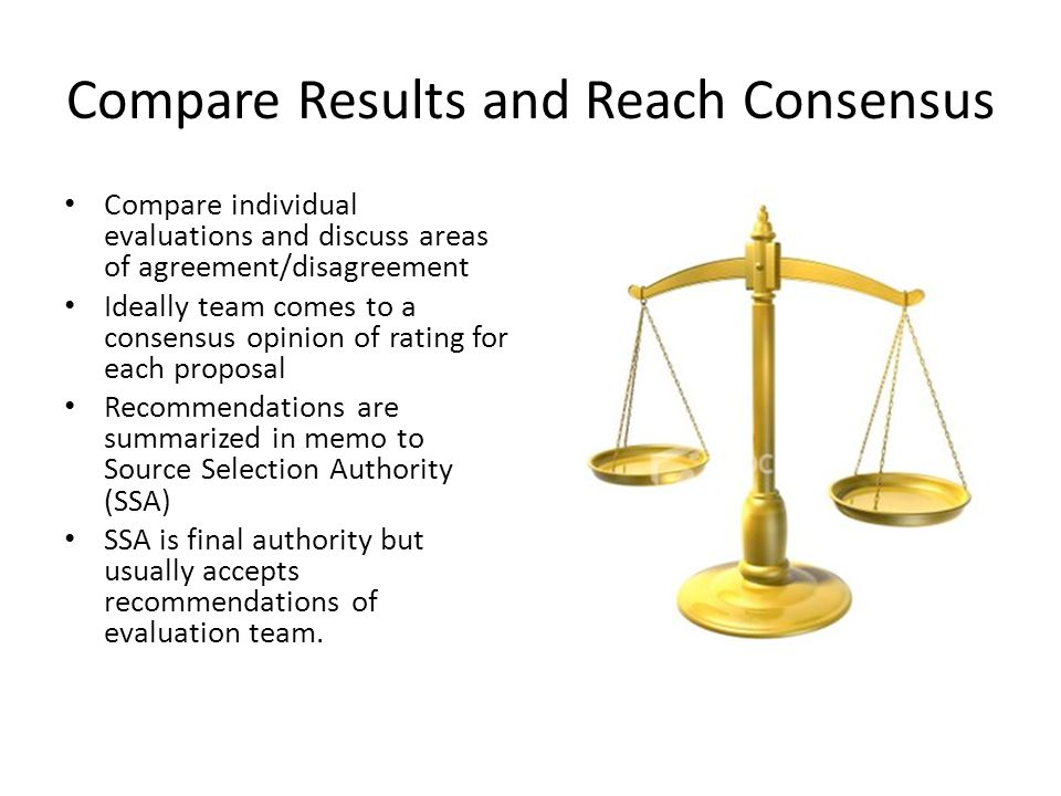 Compare Results and Reach Consensus