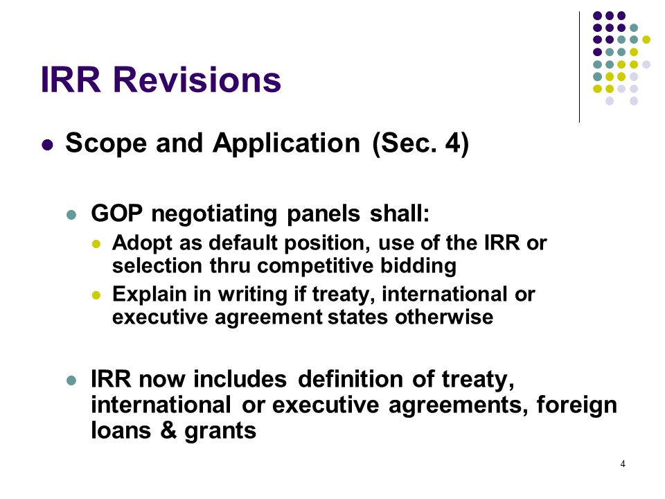 Revised Implementing Rules And Regulations Ppt Download