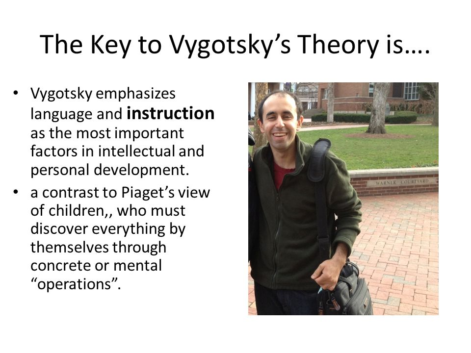 The Key to Vygotsky's Theory is….