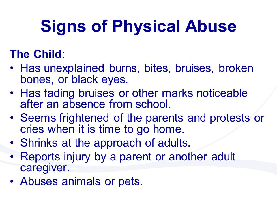 signs of physical abuse