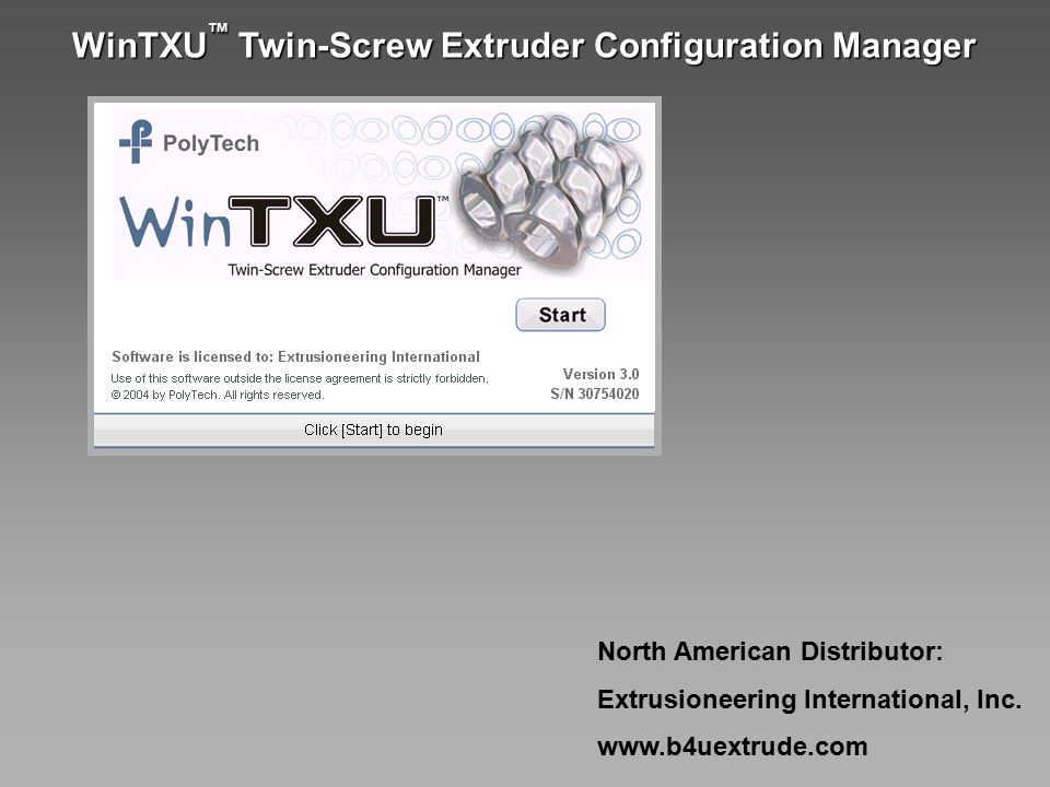 Extruder Screw Design Software