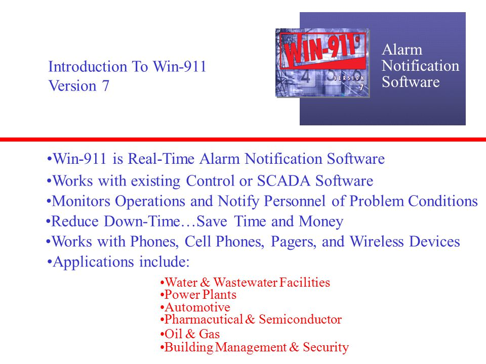 Real Time 911 >> Win 911 Is Real Time Alarm Notification Software Ppt Download