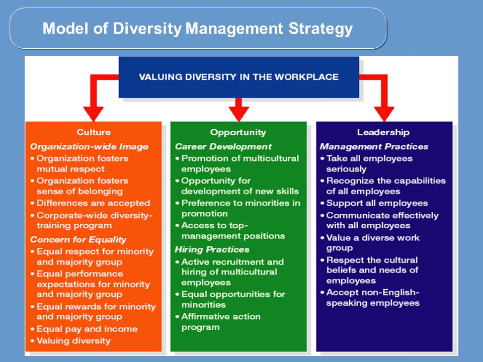the three different approaches to diversity training programs essay Diversity training is any program designed to facilitate positive intergroup interaction, reduce prejudice and discrimination, and generally teach individuals who are different from others how to.