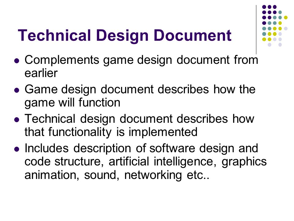 Multimedia Games Development COMM Ppt Video Online Download - Game technical design document