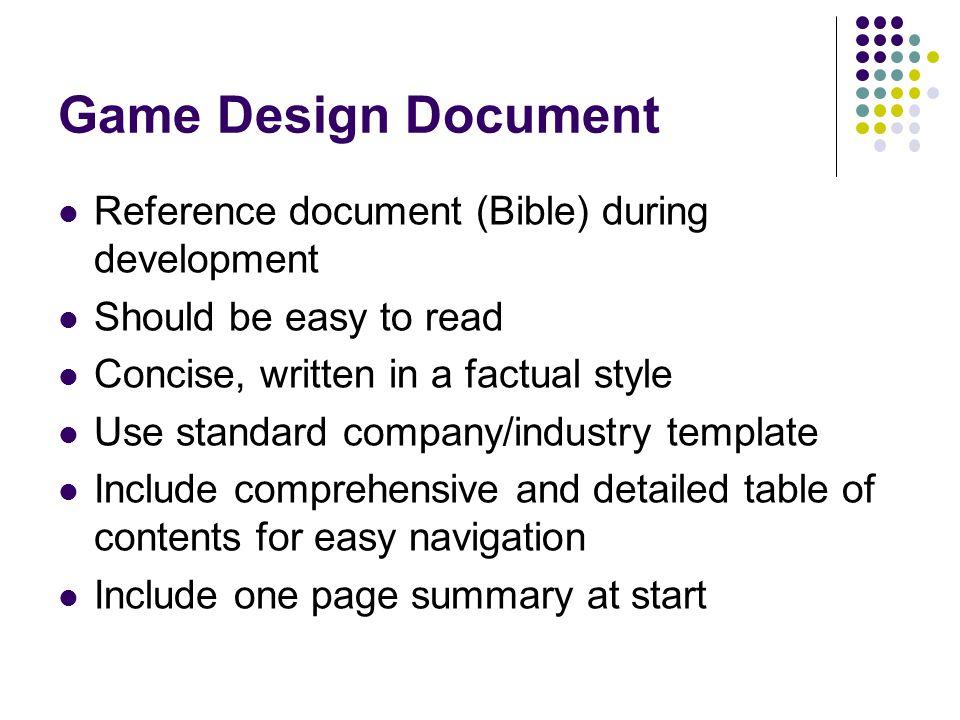 Multimedia Games Development COMM Ppt Video Online Download - Game development document template