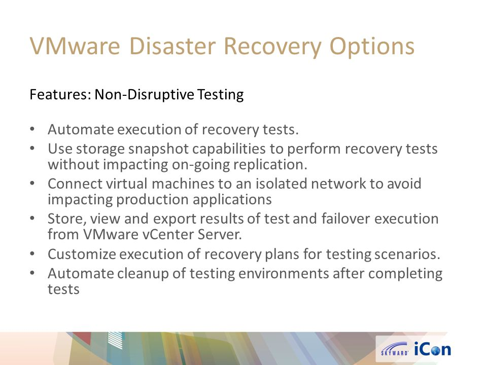 VMware Disaster Recovery Options