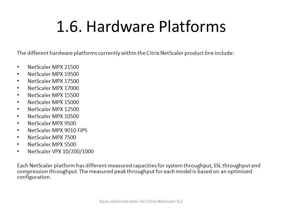 Basic Administration for Citrix NetScaler ppt download