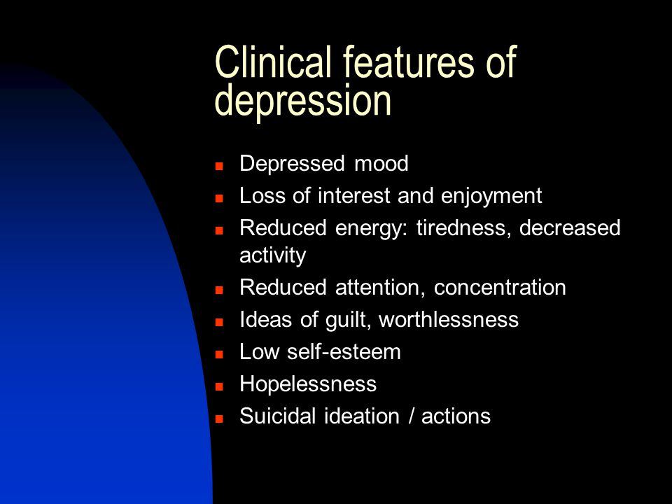 depression presentation ideas