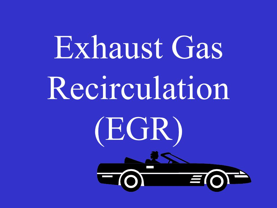Exhaust Gas Recirculation (EGR)