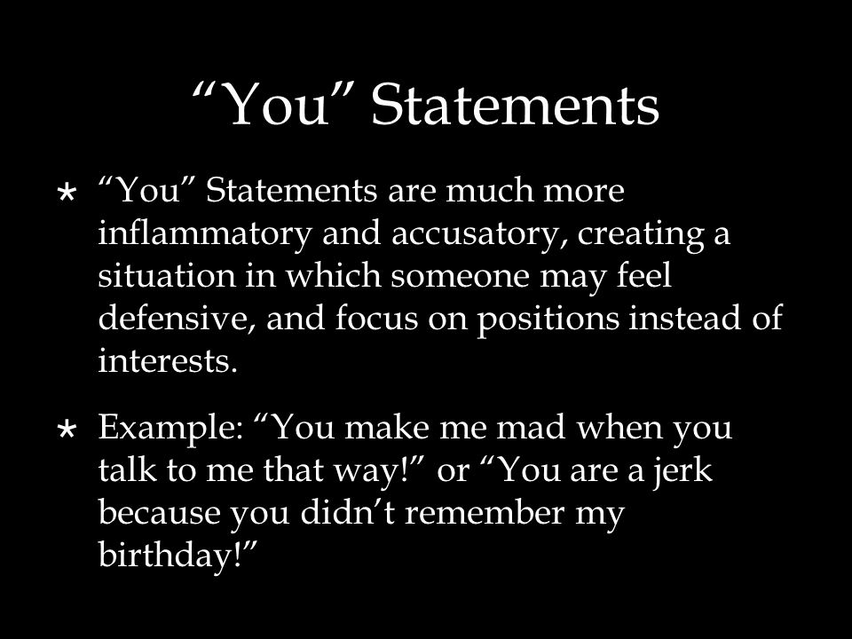 You Statements