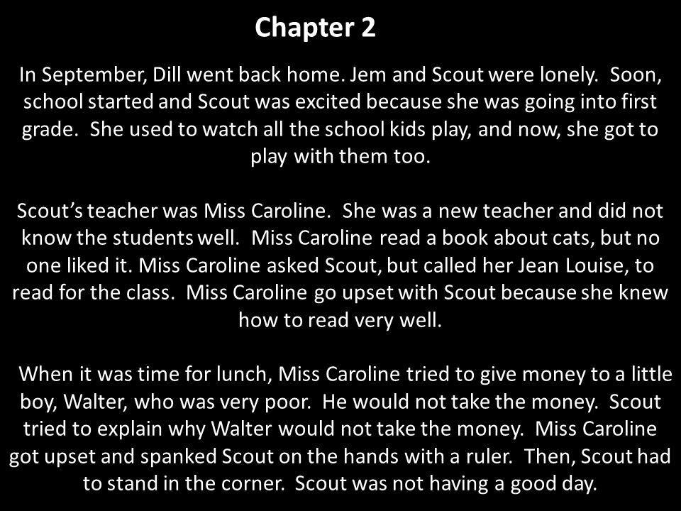 first chapter of to kill a mockingbird