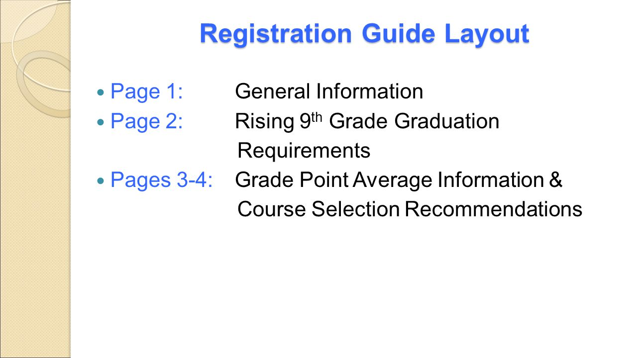 Registration Guide Layout