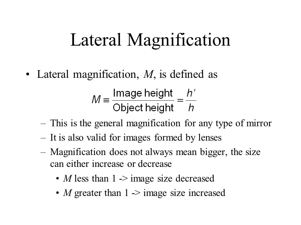 Lateral Magnification