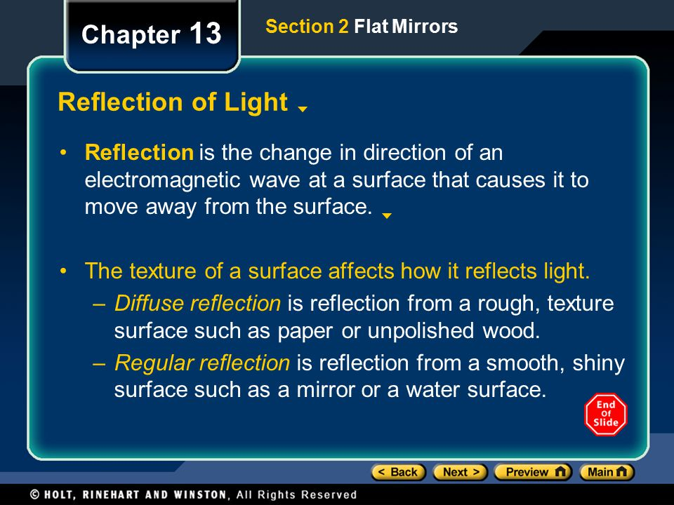 Chapter 13 Reflection of Light