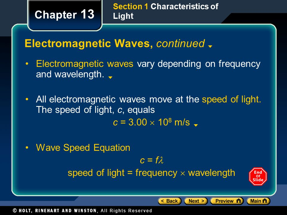 Electromagnetic Waves, continued
