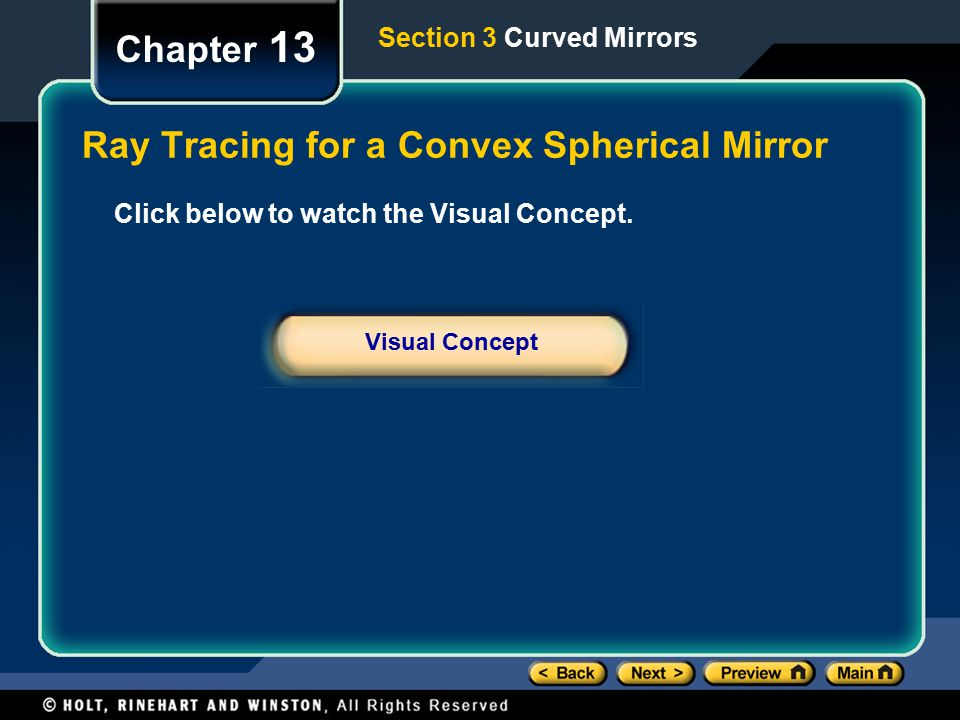 Ray Tracing for a Convex Spherical Mirror