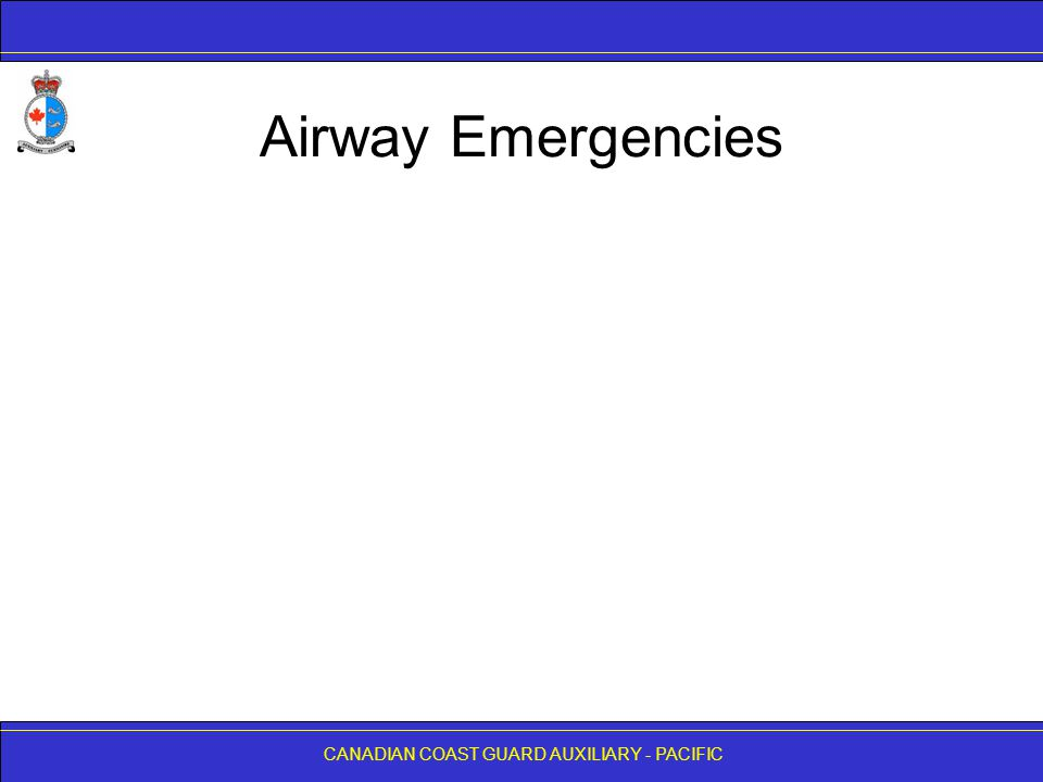 Airway Emergencies