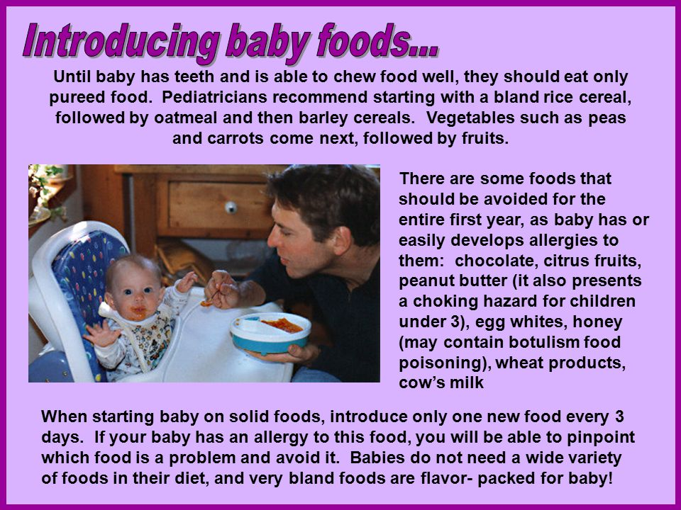 Solid Foods To Introduce To Baby To Chew